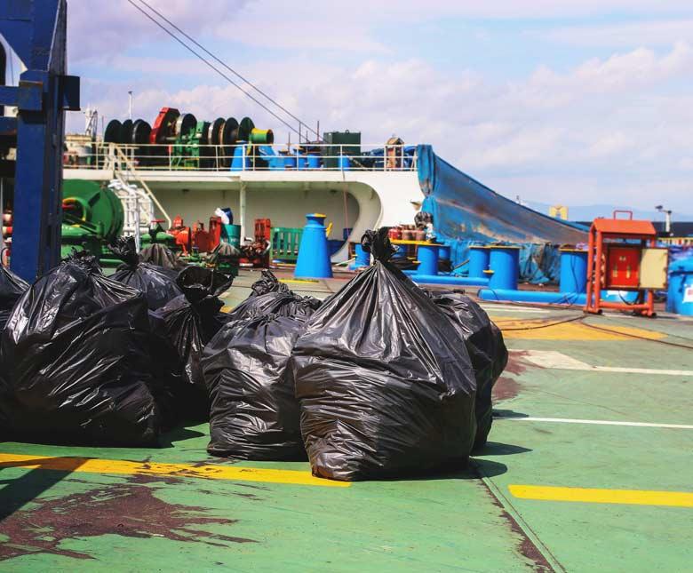 food waste dryers for marine vessels
